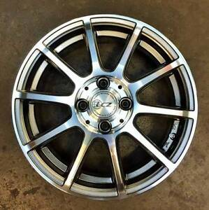 """(Hyundai i20, Accent) 15"""" Jap LCZ P-01 Wheels + Continental Tyres Mitcham Whitehorse Area Preview"""