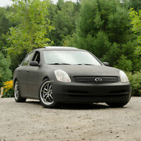 "2003 Infiniti G35 ** DROPPED 1.5"" W/ MATTE BLACK WRAP * Manual"