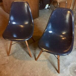 Pair of original Herman Miller Eames chairs - need work