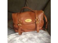 Beautiful Mulberry Oversized Alexa Handbag in Oak / Tan