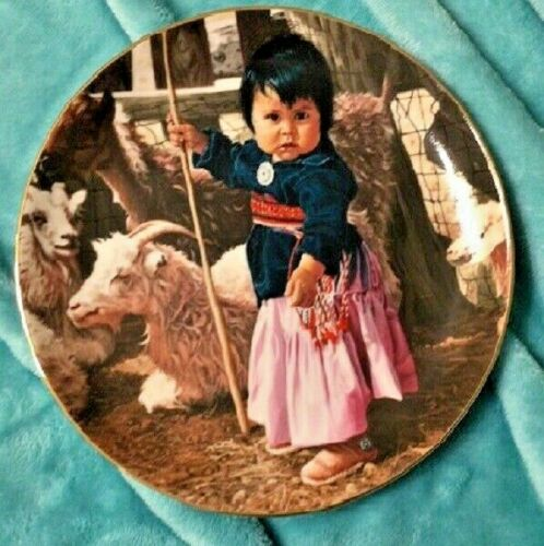 SWANSON PLATE - THE PROUD NATION - NEWEST LITTLE SHEEPHERDER 1988 PLATE W/ CERT