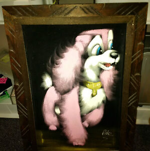Mexican Black Velvet Dog Paintings signed by Perez Prince George British Columbia image 2