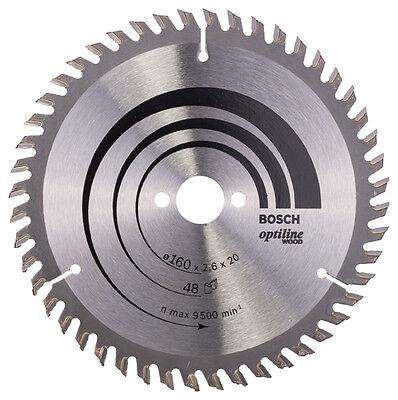 Bosch Kreissägeblatt 160mm 48WZ Optiline Wood 160 x 20 x 2,6 mm f. Handkreissäge