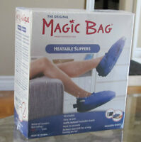 Brand New Wrapped Magic Bag Heatable Slippers
