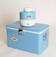 Vintage Coleman Cooler and Water Jug Set