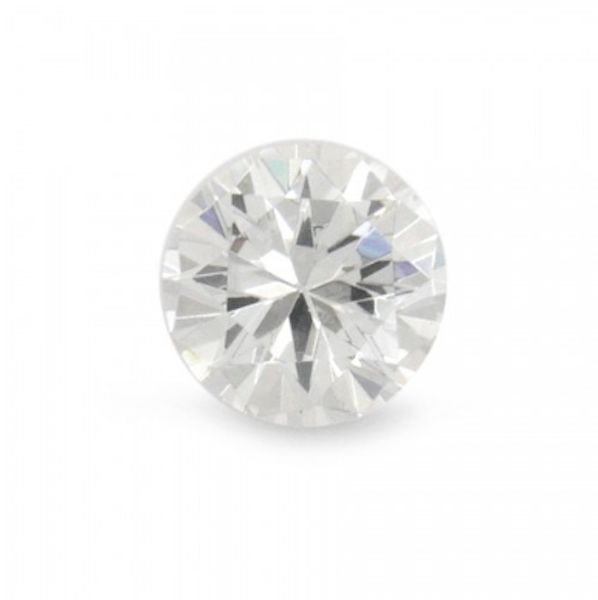 Natural White Zircon AAA Round Faceted Diamond Cut Loose Gemstones (1mm - 6mm)
