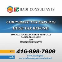 Corporate Tax Experts | Huge Tax Refund | 416-998-7909