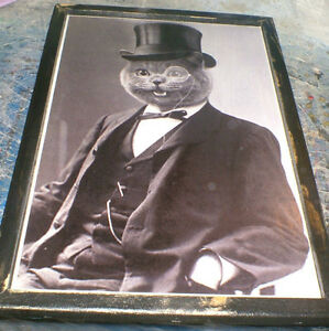 Classy Cats -Sir Toppum Cat & Baby Puss - ready to display