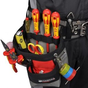 CK Tools Magma Electrician Pouch Tool Holder 3 Pocket Hammer Loop MA2717A