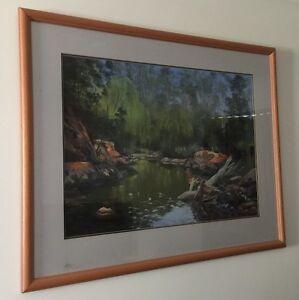 Large Pastel Artwork in good quality frame Armidale Armidale City Preview