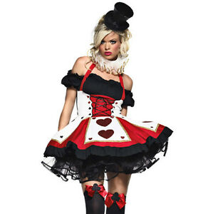 NEW 5-pc Queen of Hearts  Costume M