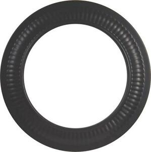 IMPERIAL BM0094 6 INCH BLACK STOVE PIPE HEAVY 24 GAUGE COLLAR TRIM RING 0366716