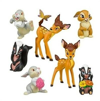 Thumper Toys (Bambi Thumper Flower Playset 7 Figure Cake Topper * USA SELLER* Toy Doll)