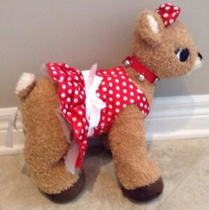 Build a Bear Rudolph Red Nose Reindeer Girl Friend Clarice Light London Ontario image 4