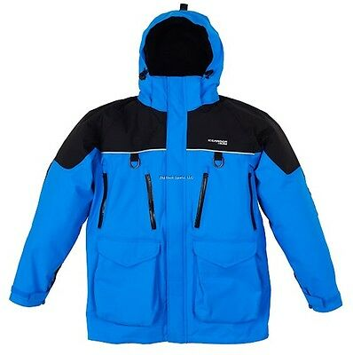 **NEW CLAM ICE ARMOR EDGE COLD WEATHER PARKA BLUE 4XL 10283  for sale  Shipping to Canada