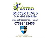 **NEW 5 A SIDE TEAMS WANTED FOR LEAGUE AT WHYTELEAFE FC**