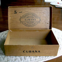 Vintage Cubana Cigar box