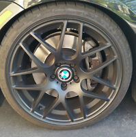 "19"" Matte Black BMW CSL Style Wheels Staggered Setup"