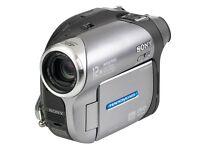 Sony Handycam digital video camera recorderDCR-DVD 202E as new all accessories including tripod