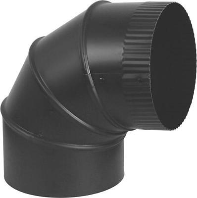 NEW IMPERIAL 5 INCH BLACK HEAVY 24 GAUGE STOVE PIPE ELBOW ADJUSTABLE 1773902