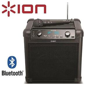 USED ION PORTABLE PA SPEAKER TAILGATER - BLUETOOTH - W/ MIC  AM/FM RADIO - USB CHARGE PORT 102515800