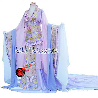 Chinese Kimono Waterlily Fairy Princess Full Dress Custom Made HanFu  - Fairy Customes