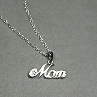 New solid sterling silver MOM necklace/ Great ift for mom!