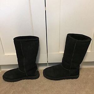 Genuine Ugg Boots - tall black womens size 5
