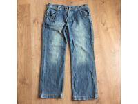 Mens Blue Fat Face Jeans Waist Size 38 Leg 32 Casual Day wear