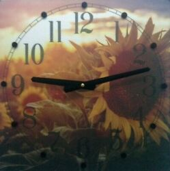 12 Sunflowers Wall Clock with Quiet (no ticking) Operation