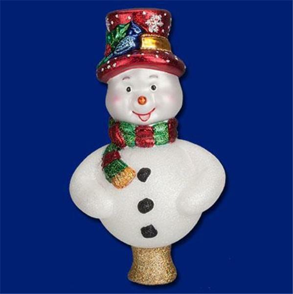 FROSTY THE SNOWMAN OLD WORLD CHRISTMAS BLOWN GLASS TREE TOPPER NIB 50022 X
