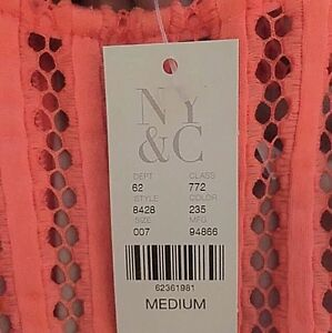 Brand New Coral Dress from New York & Company