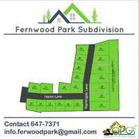 Fall Sale! Building lots for sale: Fernwood Park Subdivision