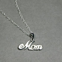 NEW Solid sterling silver MOM necklace, Great gift for mom!