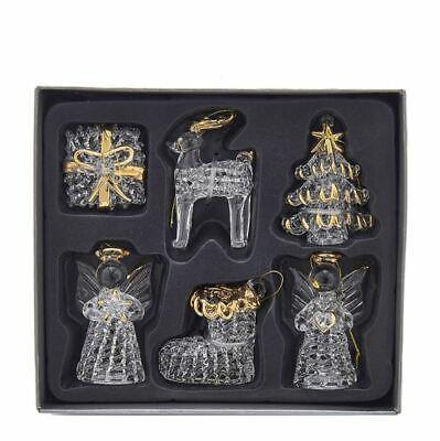 Glass Crystal Angel Tree Reindeer Gift Christmas 2.5