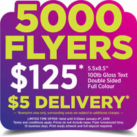 SPECIAL OFFER!  5000 Flyers for $125