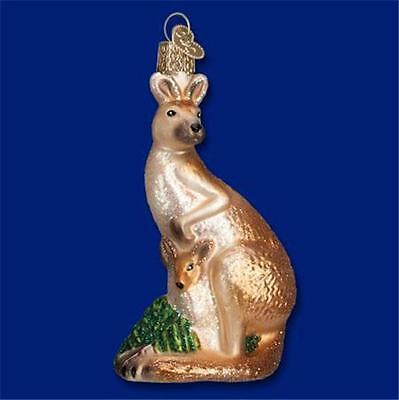 KANGAROO OLD WORLD CHRISTMAS GLASS MARSUPIAL AUSTRALIAN THEME ORNAMENT NWT 12422