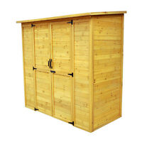CEDAR STORAGE SHED, PATIO, GARDEN, BACKYARD, GARAGE, POOL