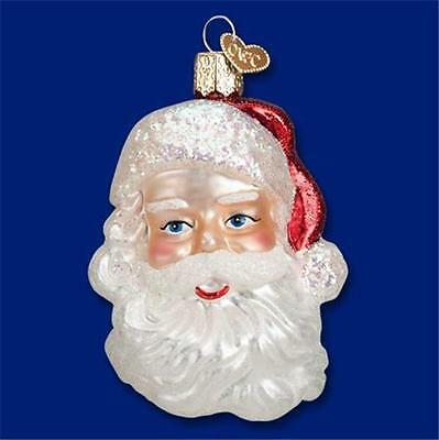 MID-CENTURY SANTA CLAUS HEAD OLD WORLD CHRISTMAS BLOWN GLASS ORNAMENT NWT 40275