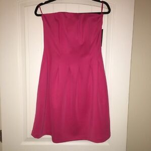 Pink Tube Dress with Side Pockets -