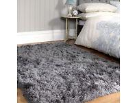 new very thick 8cm deep pile shaggy fluffy rug 120 x 170cm