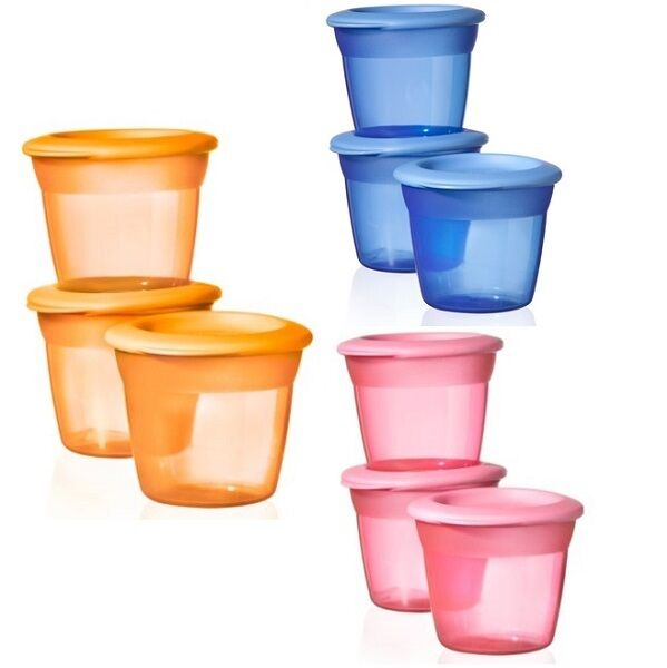 Tommee Tippee Essentials Stackable Food Pots and Lids BPA FREE