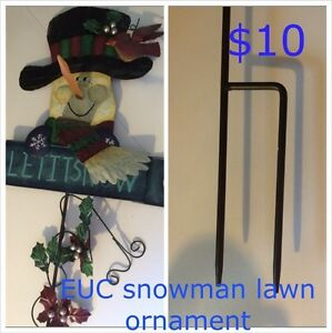 "Lawn stake  ""Let it snow ornament"""