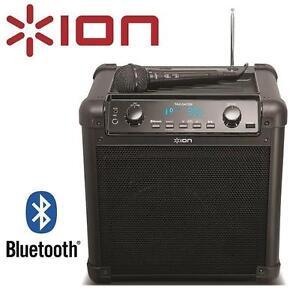 USED ION PORTABLE TAILGATER SPEAKER BLUETOOTH W/ MIC AM/FM RADIO USB CHARGE PORT 105909712
