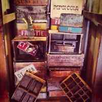 Vintage Pop Crates, Tool Boxes, And First Aid Kits