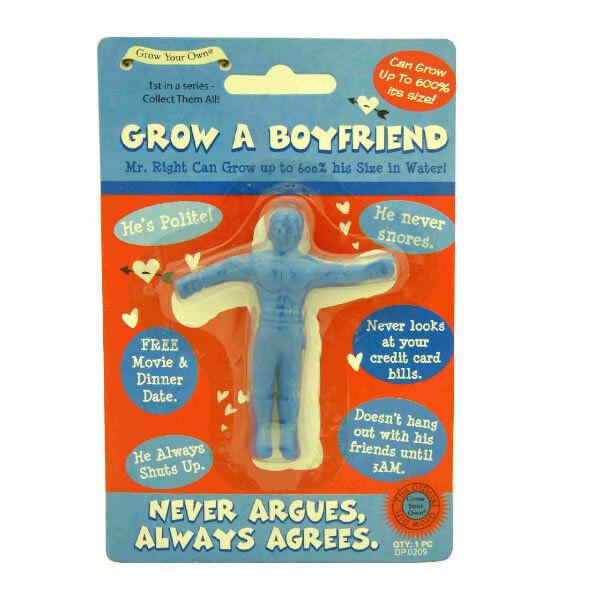 Grow Your Own Boyfriend Fun Funny Novelty Joke Prank Party Adult Secret Santa