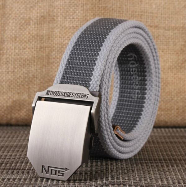 Men Auto-Lock Canvas Belt