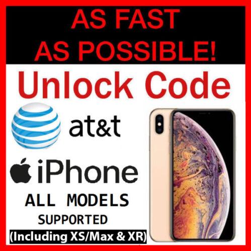 iPhone XS Unlock Code Service ATT AT&T XS/Max XR iPhone 8 8+ Plus