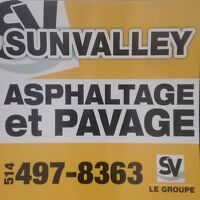 Asphalte pavage bordure de ciment