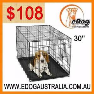 Dog Puppy Cat Pet Cage Kennel Collapsible Metal Crate w/Tray